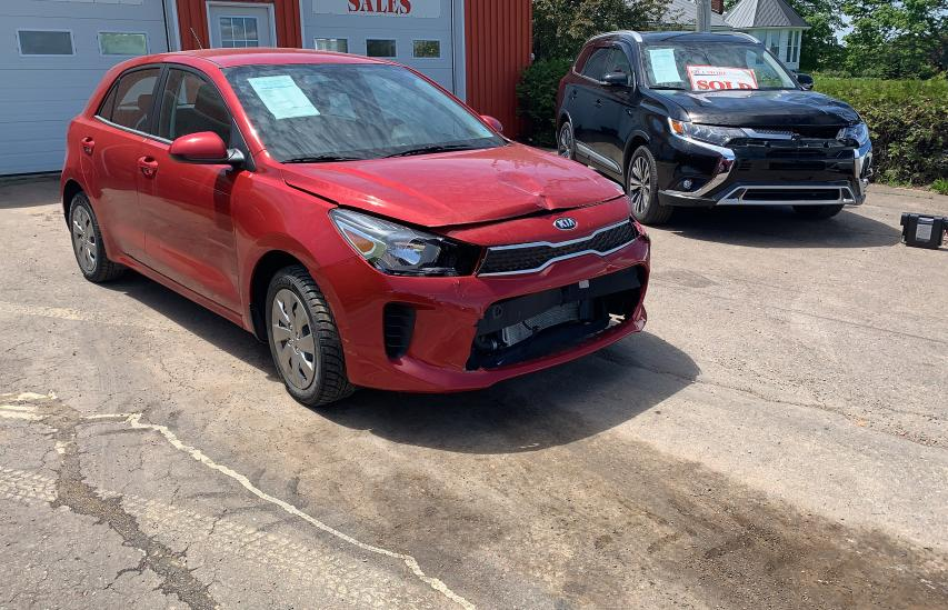Salvage cars for sale from Copart Moncton, NB: 2020 KIA Rio LX