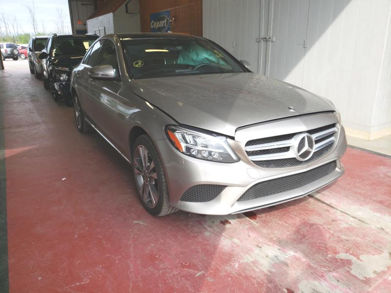 Salvage cars for sale from Copart Angola, NY: 2019 Mercedes-Benz C 300 4matic