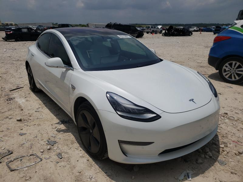 Salvage cars for sale from Copart New Braunfels, TX: 2019 Tesla Model 3