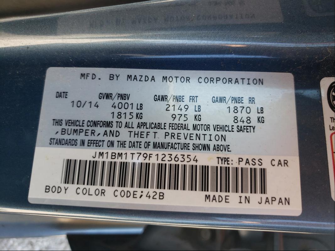 2015 MAZDA 3 SV JM1BM1T79F1236354