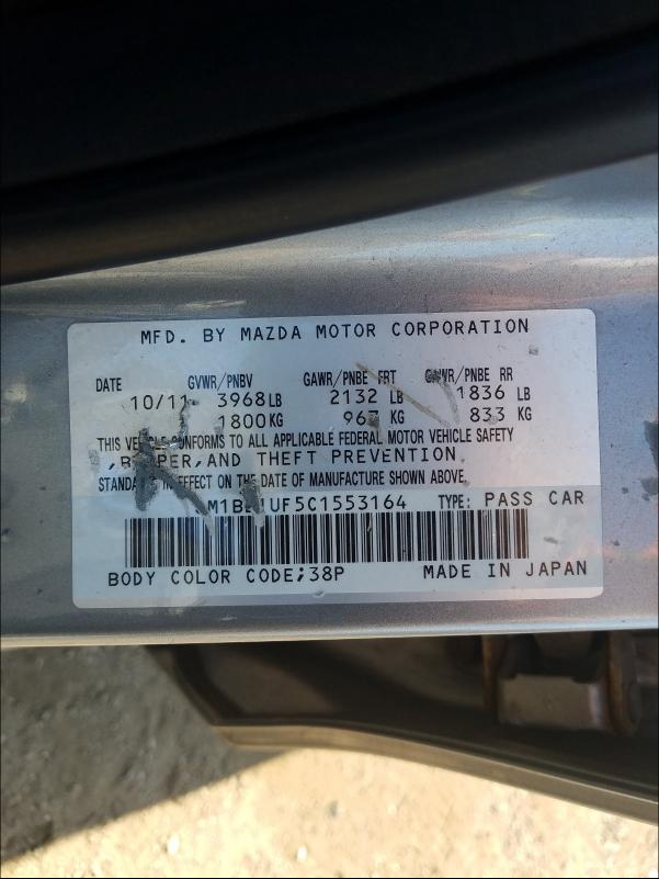 2012 MAZDA 3 I JM1BL1UF5C1553164