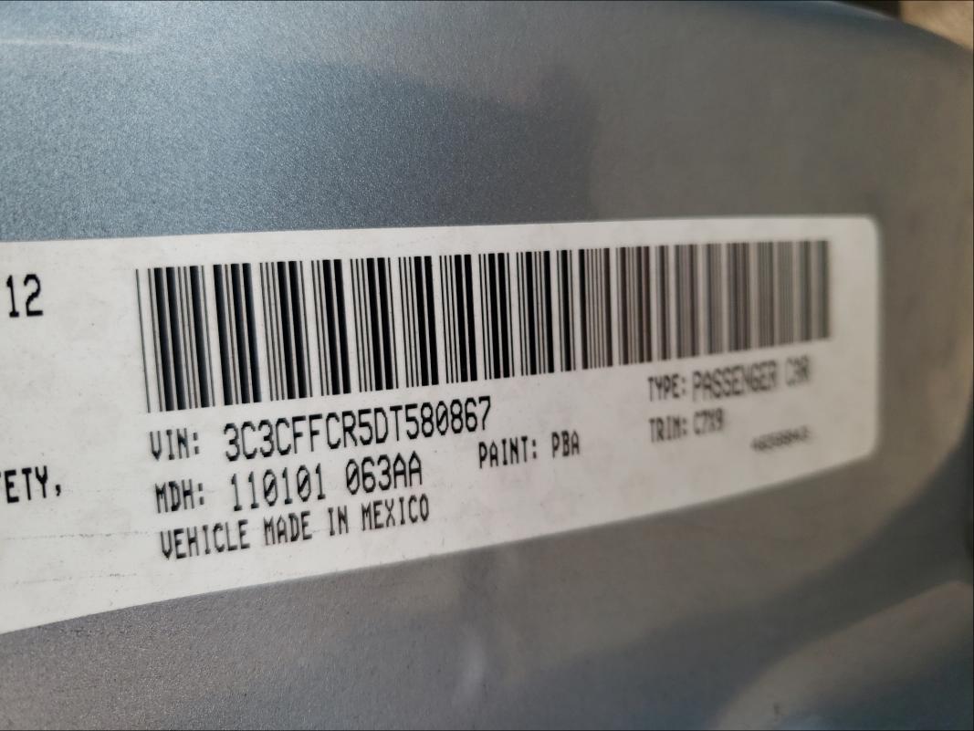 2013 FIAT 500 LOUNGE 3C3CFFCR5DT580867