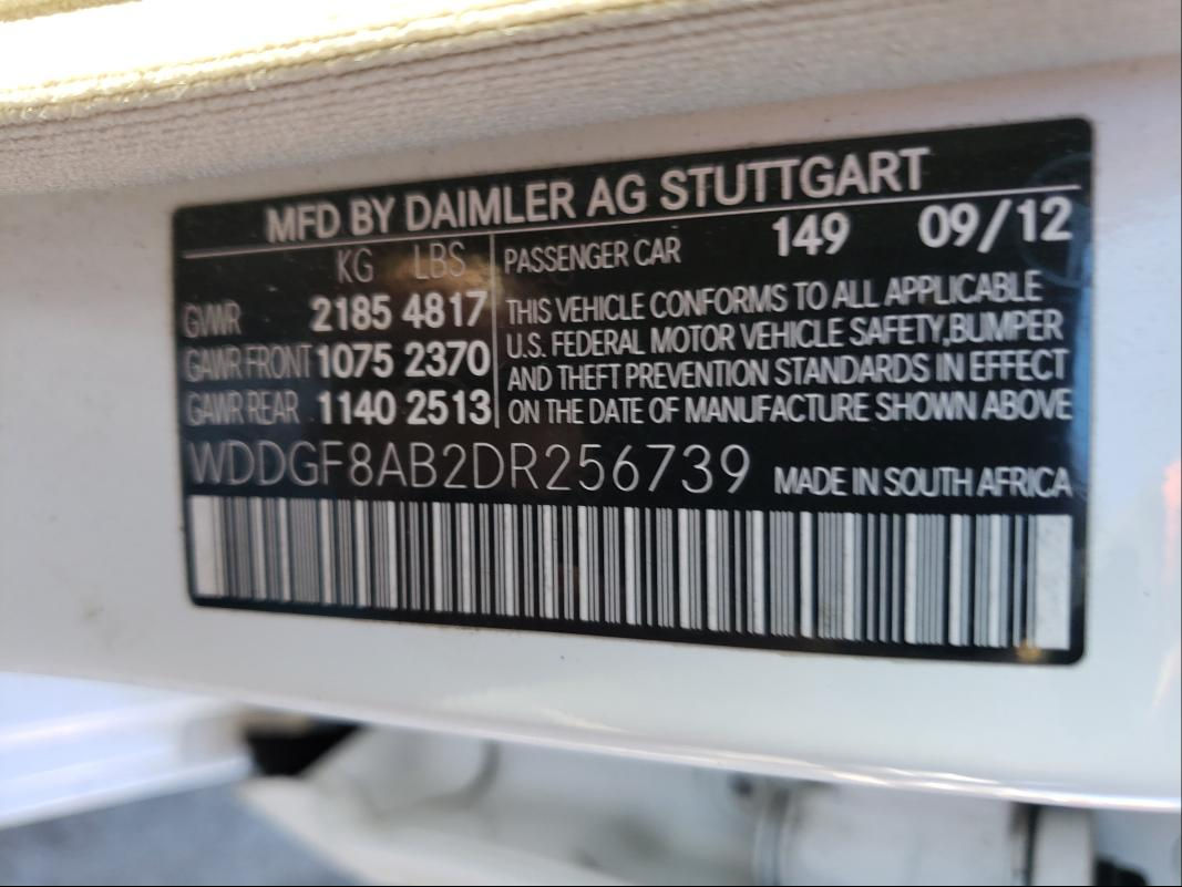 2013 MERCEDES-BENZ C 300 4MAT WDDGF8AB2DR256739