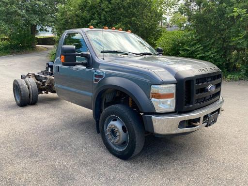 Salvage cars for sale from Copart Mendon, MA: 2008 Ford F550 Super