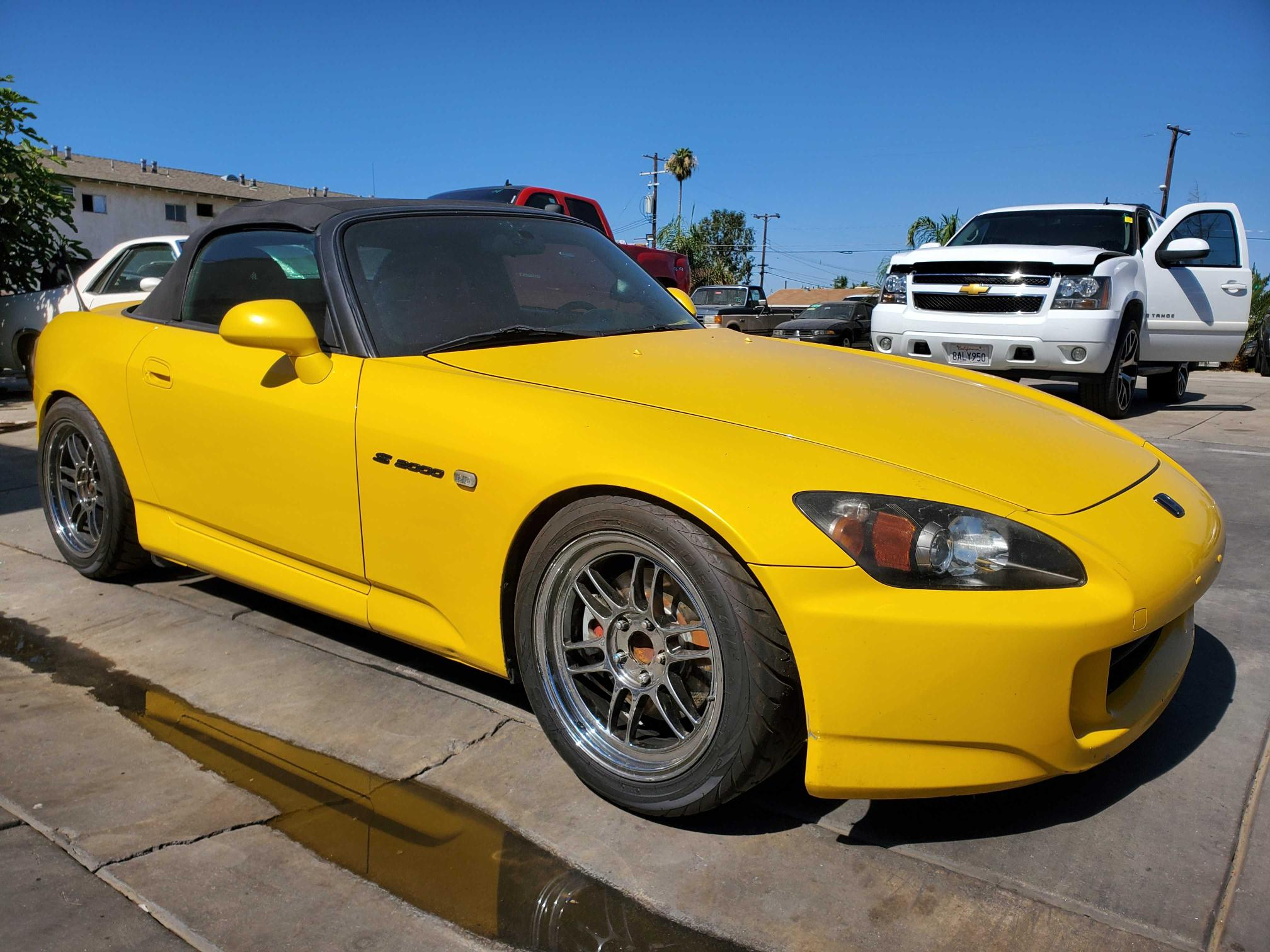 Salvage cars for sale from Copart Bakersfield, CA: 2002 Honda S2000