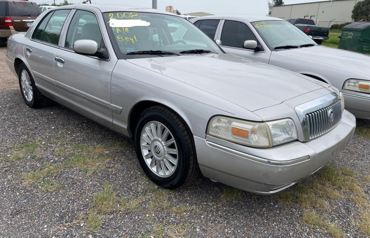 Salvage cars for sale from Copart Mercedes, TX: 2008 Mercury Grand Marq