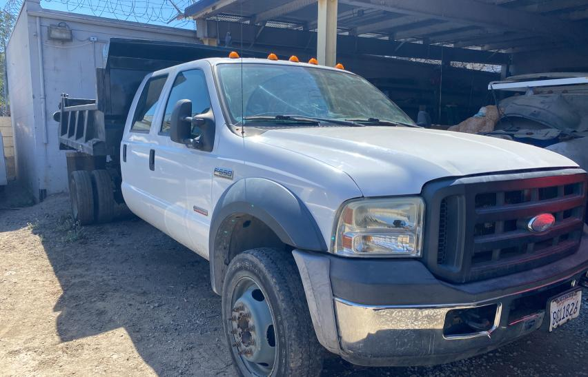 Salvage cars for sale from Copart Hayward, CA: 2007 Ford F550 Super