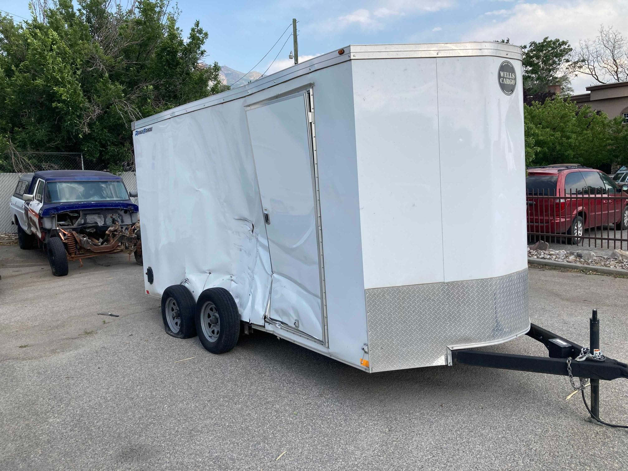 Salvage cars for sale from Copart Farr West, UT: 2019 Wells Cargo Boat With Trailer