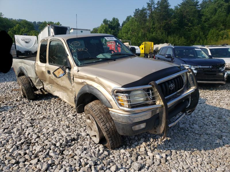 Salvage cars for sale from Copart Hurricane, WV: 2002 Toyota Tacoma XTR