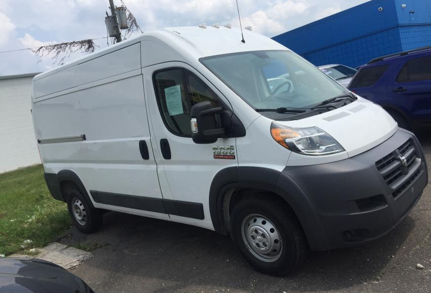 Salvage trucks for sale at Woodhaven, MI auction: 2014 Dodge RAM Promaster