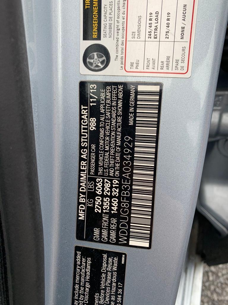 2014 MERCEDES-BENZ S 550 4MAT WDDUG8FB3EA034929