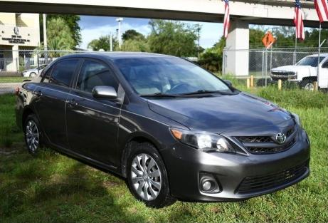 Salvage cars for sale from Copart Homestead, FL: 2012 Toyota Corolla BA