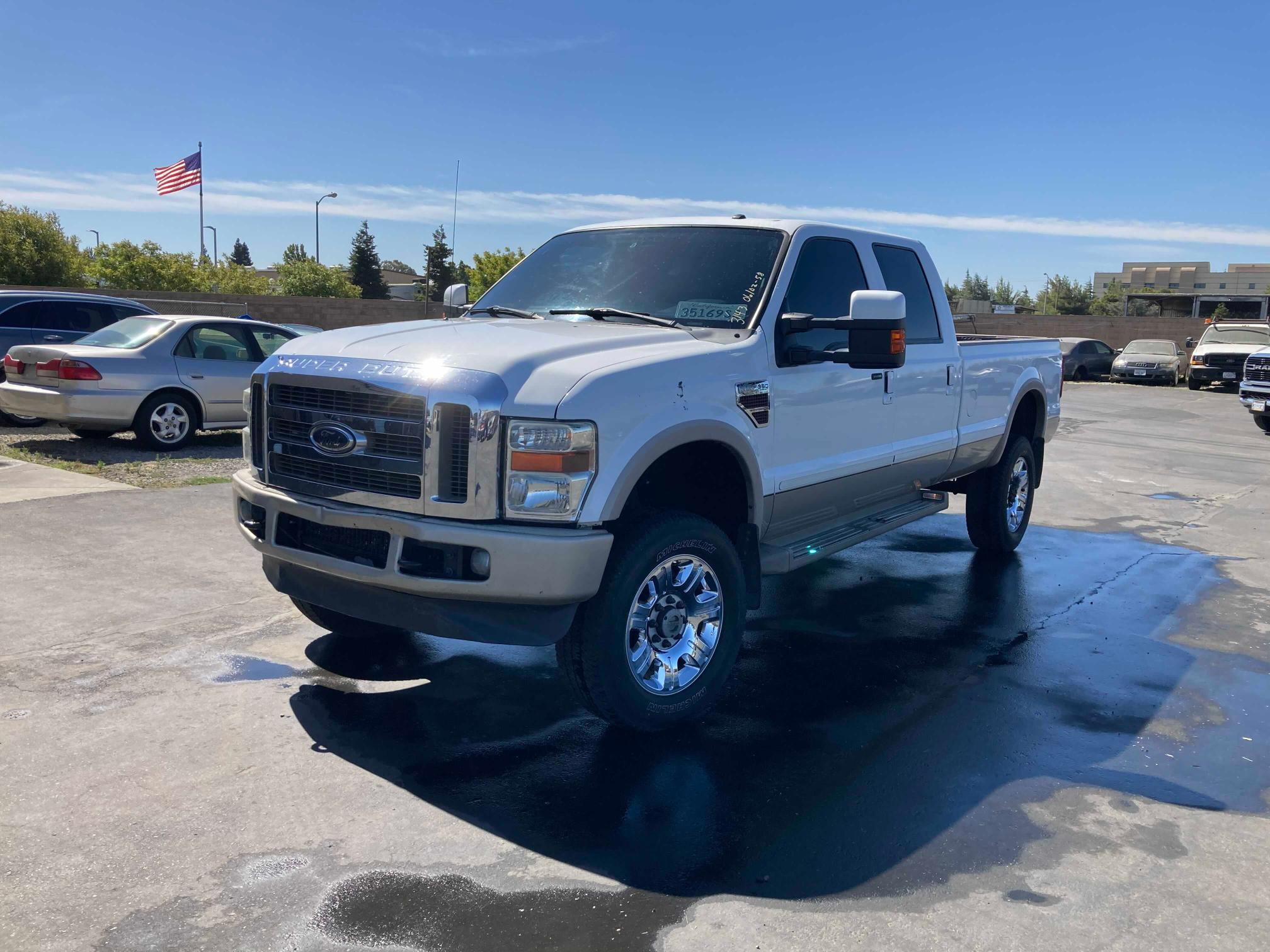 Salvage cars for sale from Copart Vallejo, CA: 2009 Ford F350 Super