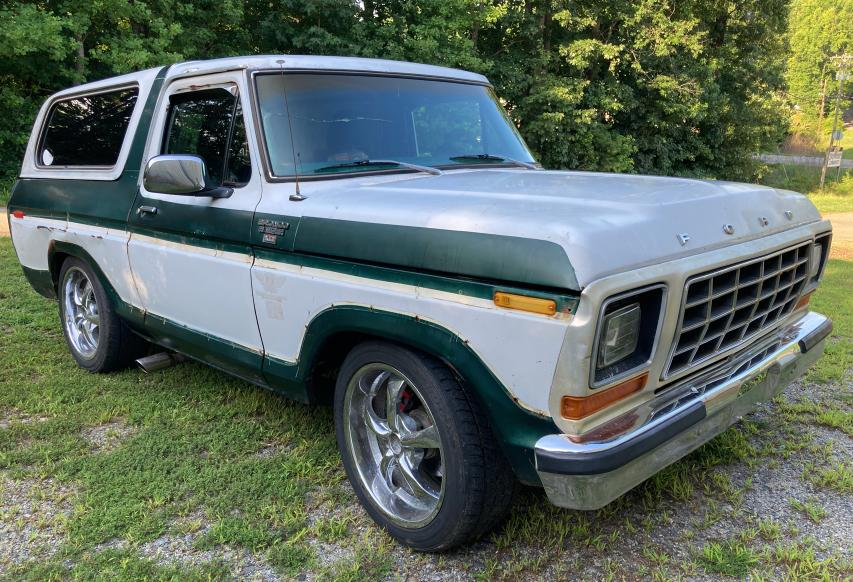Ford Bronco salvage cars for sale: 1979 Ford Bronco