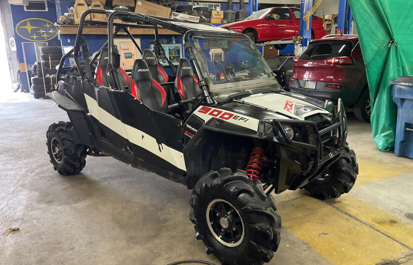 Salvage motorcycles for sale at Pennsburg, PA auction: 2013 Polaris RZR 4 900