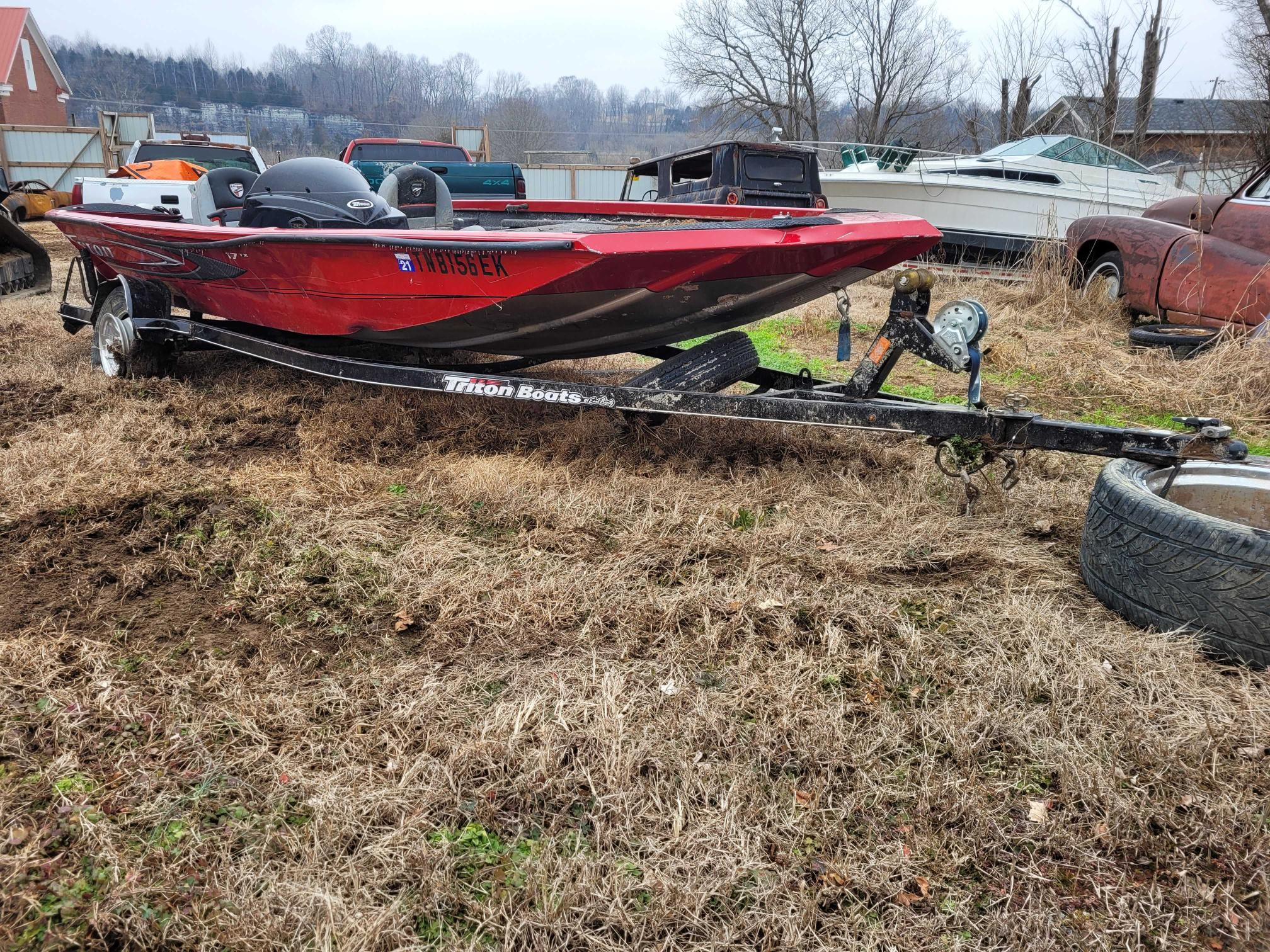 Salvage cars for sale from Copart Lebanon, TN: 2016 Triton Boat With Trailer