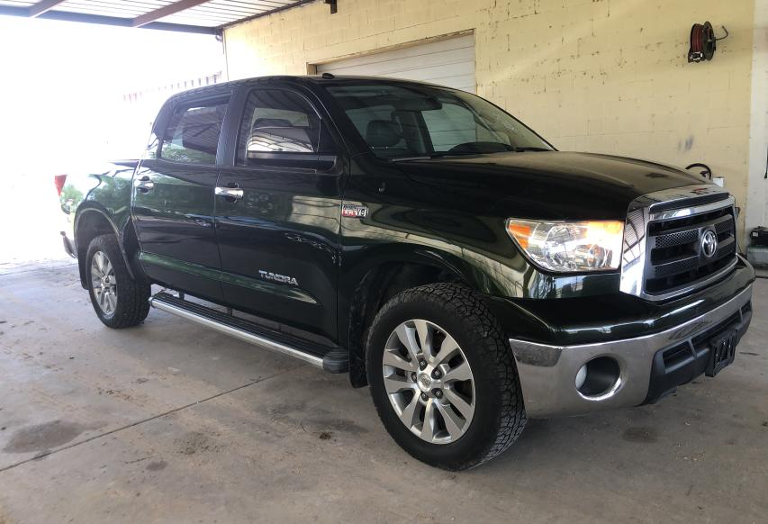 Salvage cars for sale from Copart Mercedes, TX: 2010 Toyota Tundra CRE