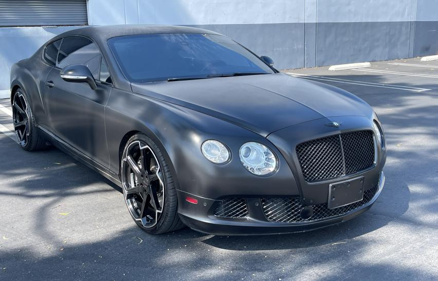 Bentley Continental salvage cars for sale: 2012 Bentley Continental