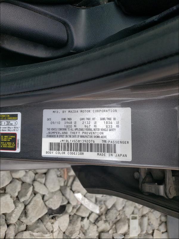 2011 MAZDA 3 JM1BL1VG5B1392076