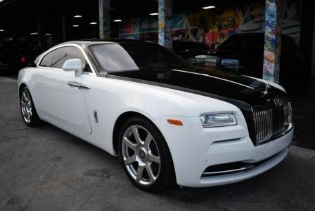 Salvage cars for sale at West Palm Beach, FL auction: 2016 Rolls-Royce Wraith
