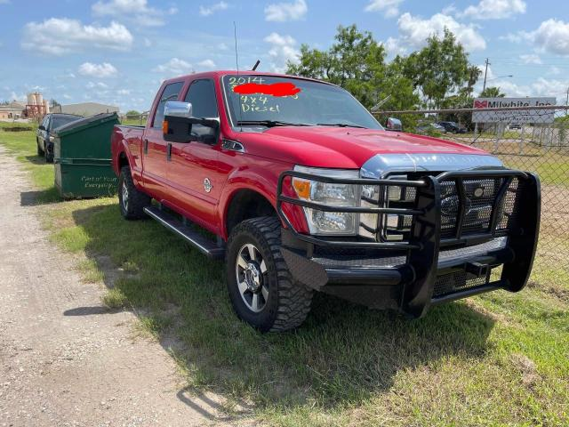 Salvage cars for sale from Copart Mercedes, TX: 2014 Ford F250 Super