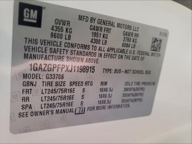 2018 CHEVROLET EXPRESS G3 1GAZGPFPXJ1198915