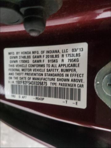 2013 HONDA CIVIC LX 19XFB2F54DE026875