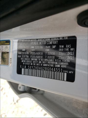 2011 HYUNDAI SANTA FE S 5XYZHDAG2BG044551
