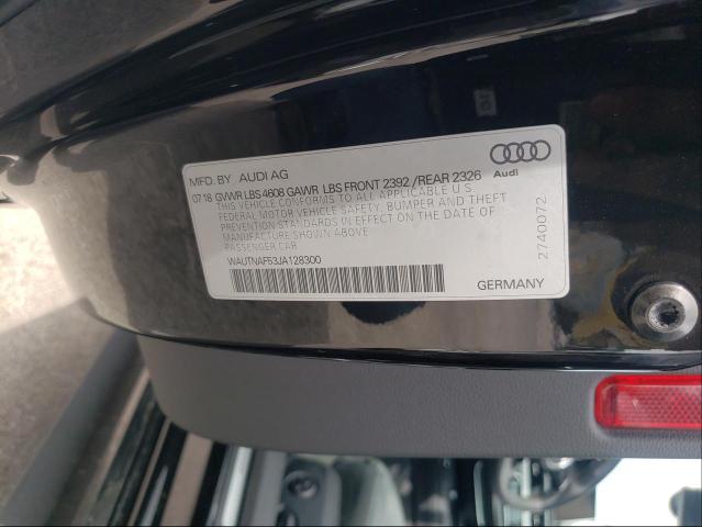 2018 AUDI A5 PREMIUM WAUTNAF53JA128300