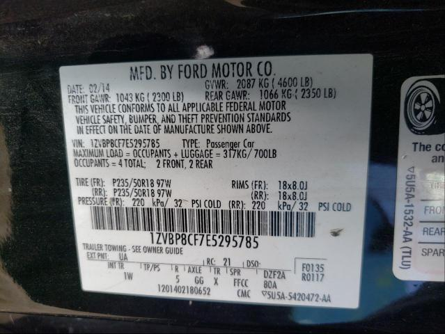 2014 FORD MUSTANG GT 1ZVBP8CF7E5295785