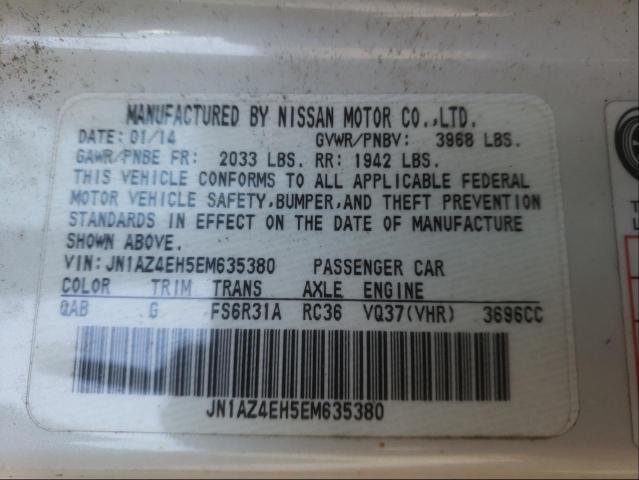 2014 NISSAN 370Z BASE JN1AZ4EH5EM635380