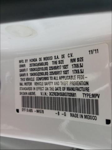 2011 HONDA CR-V EX 3CZRE3H55BG703581