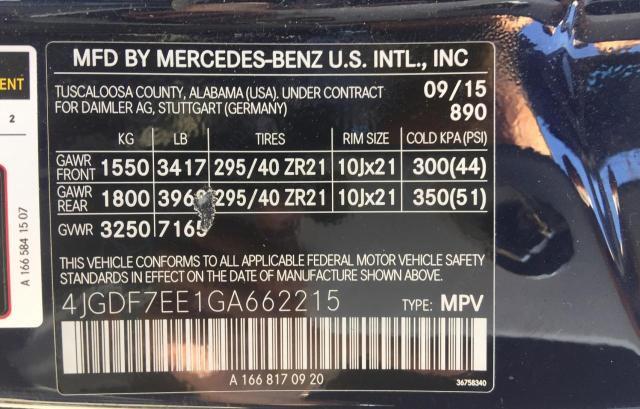 2016 MERCEDES-BENZ GL 63 AMG