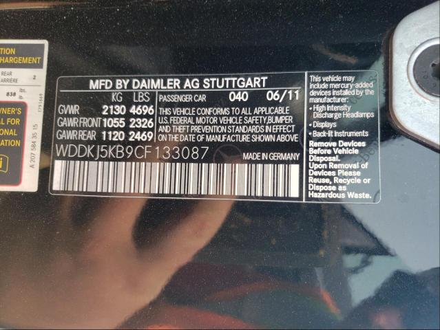 2012 MERCEDES-BENZ E 350 WDDKJ5KB9CF133087
