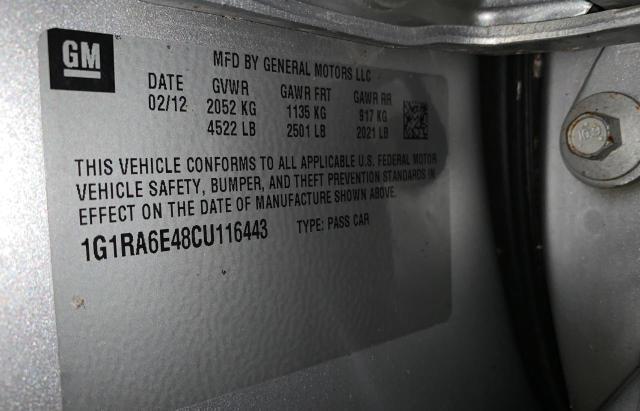 2012 CHEVROLET VOLT 1G1RA6E48CU116443