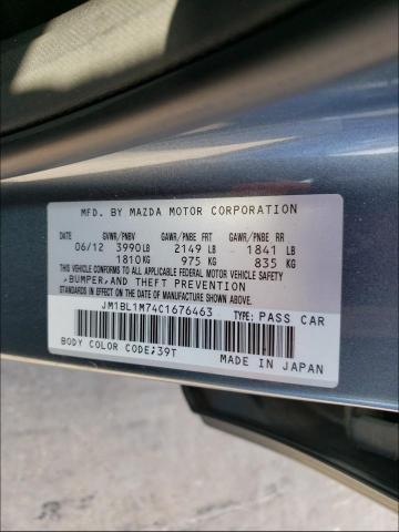 2012 MAZDA 3 I JM1BL1M74C1676463