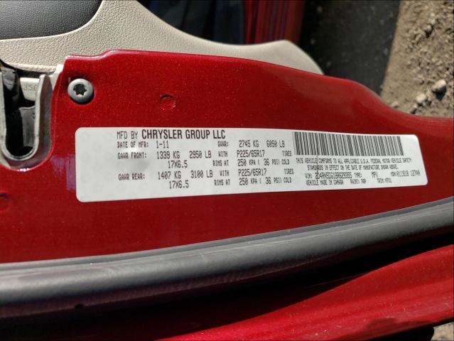 2011 DODGE GRAND CARA 2D4RN5DG1BR629355