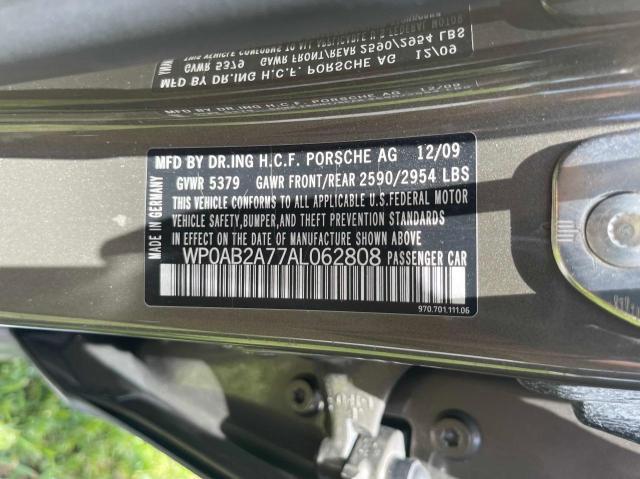 2010 PORSCHE PANAMERA S WP0AB2A77AL062808