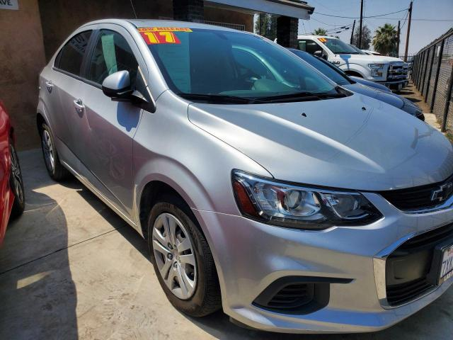 Salvage cars for sale from Copart Bakersfield, CA: 2017 Chevrolet Sonic LS