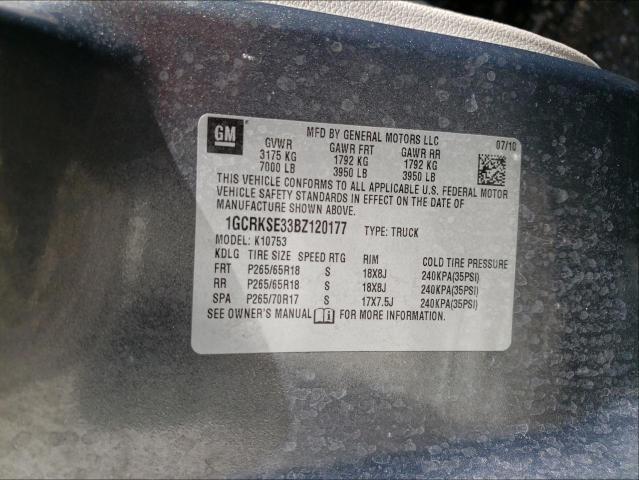2011 CHEVROLET SILVERADO 1GCRKSE33BZ120177