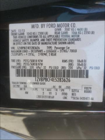 2014 FORD MUSTANG GT 1ZVBP8CF4E5283626