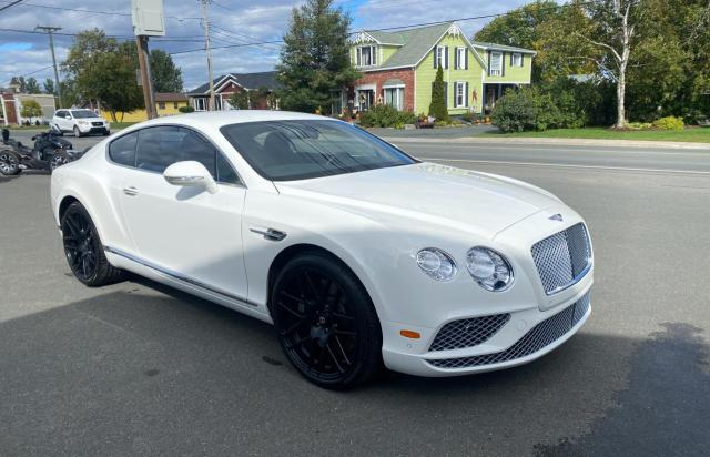 Salvage cars for sale at Moncton, NB auction: 2016 Bentley Continental