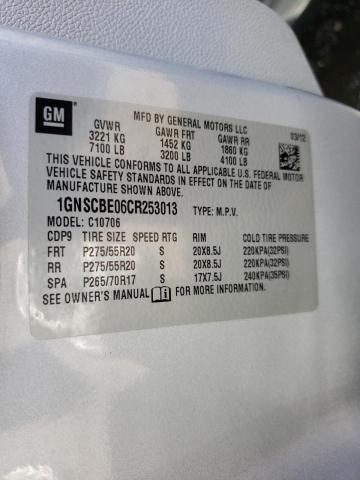 2012 CHEVROLET TAHOE C150 1GNSCBE06CR253013