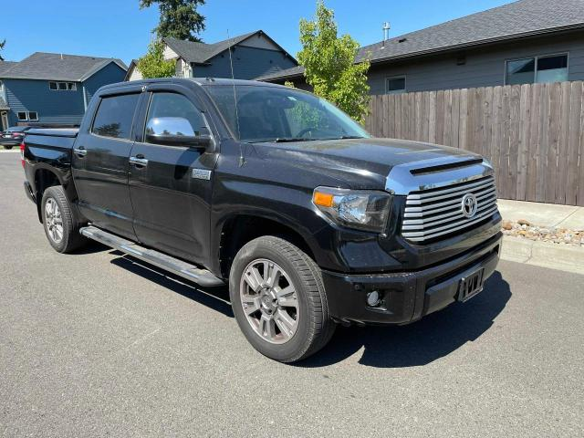 Salvage cars for sale from Copart Portland, OR: 2014 Toyota Tundra CRE