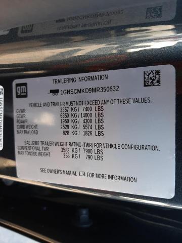 2021 CHEVROLET TAHOE C150 1GNSCMKD9MR350632