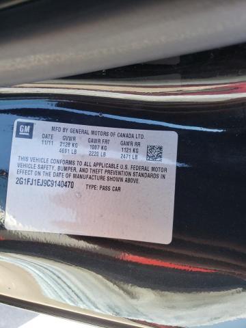 2012 CHEVROLET CAMARO SS 2G1FJ1EJ9C9140470