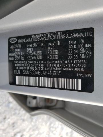 2010 HYUNDAI SANTA FE G 5NMSGDAB0AH413985