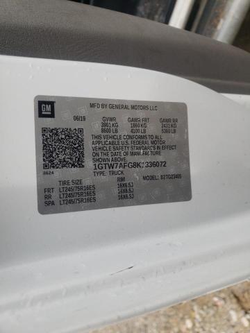 2019 GMC SAVANA G25 1GTW7AFG8K1336072