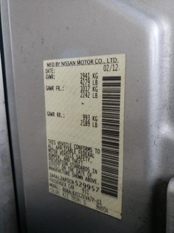 2012 NISSAN ALTIMA BAS 1N4AL2AP1CN529957