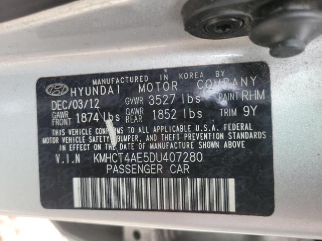 2013 HYUNDAI ACCENT GLS KMHCT4AE5DU407280